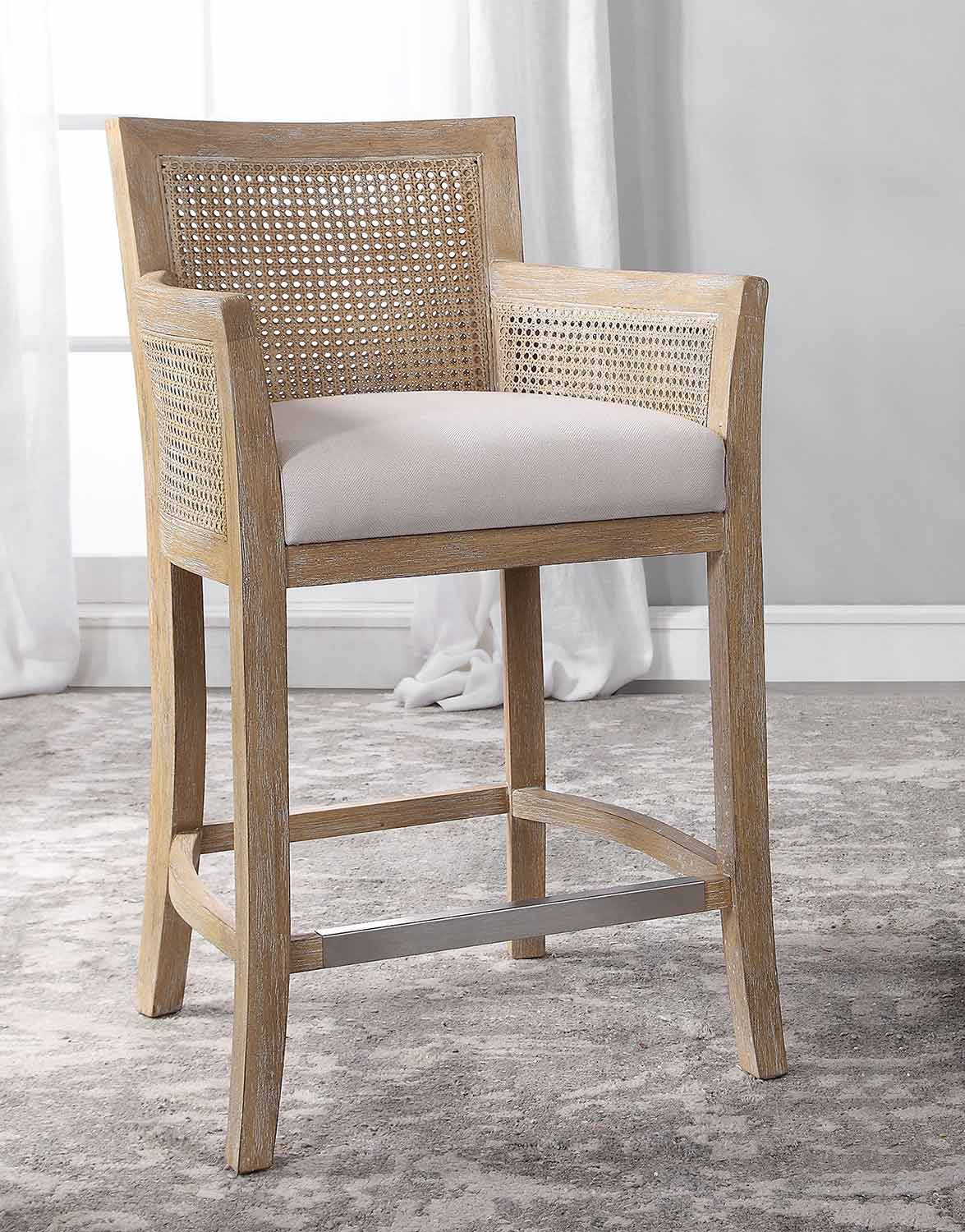 Uttermost Encore Counter Stool, Natural