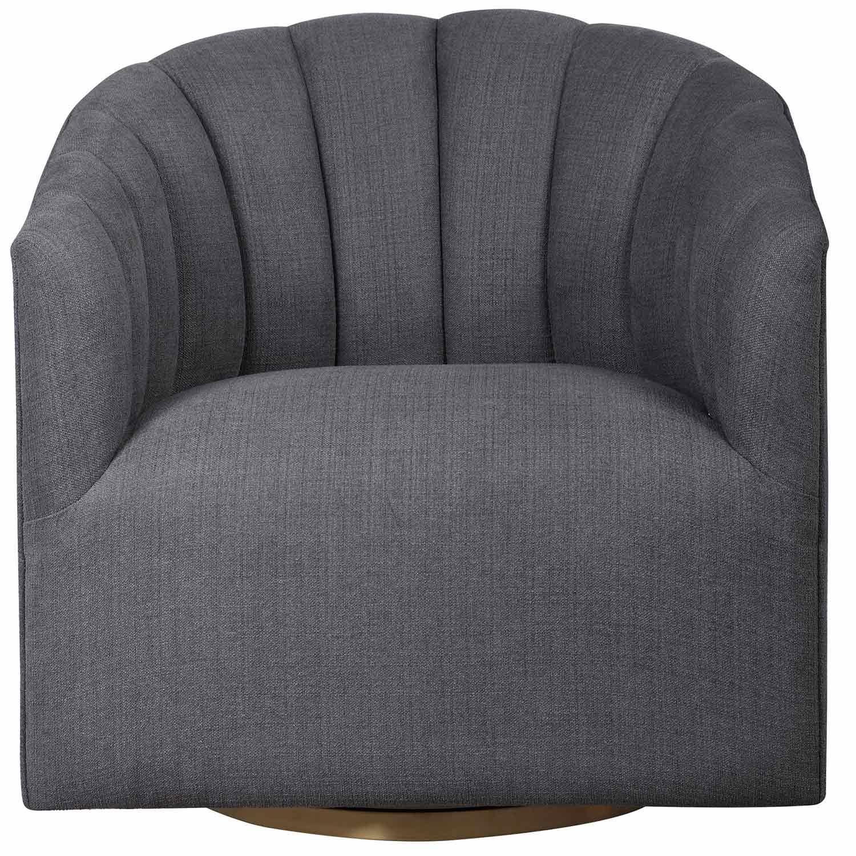 Uttermost Cuthbert Modern Swivel Chair