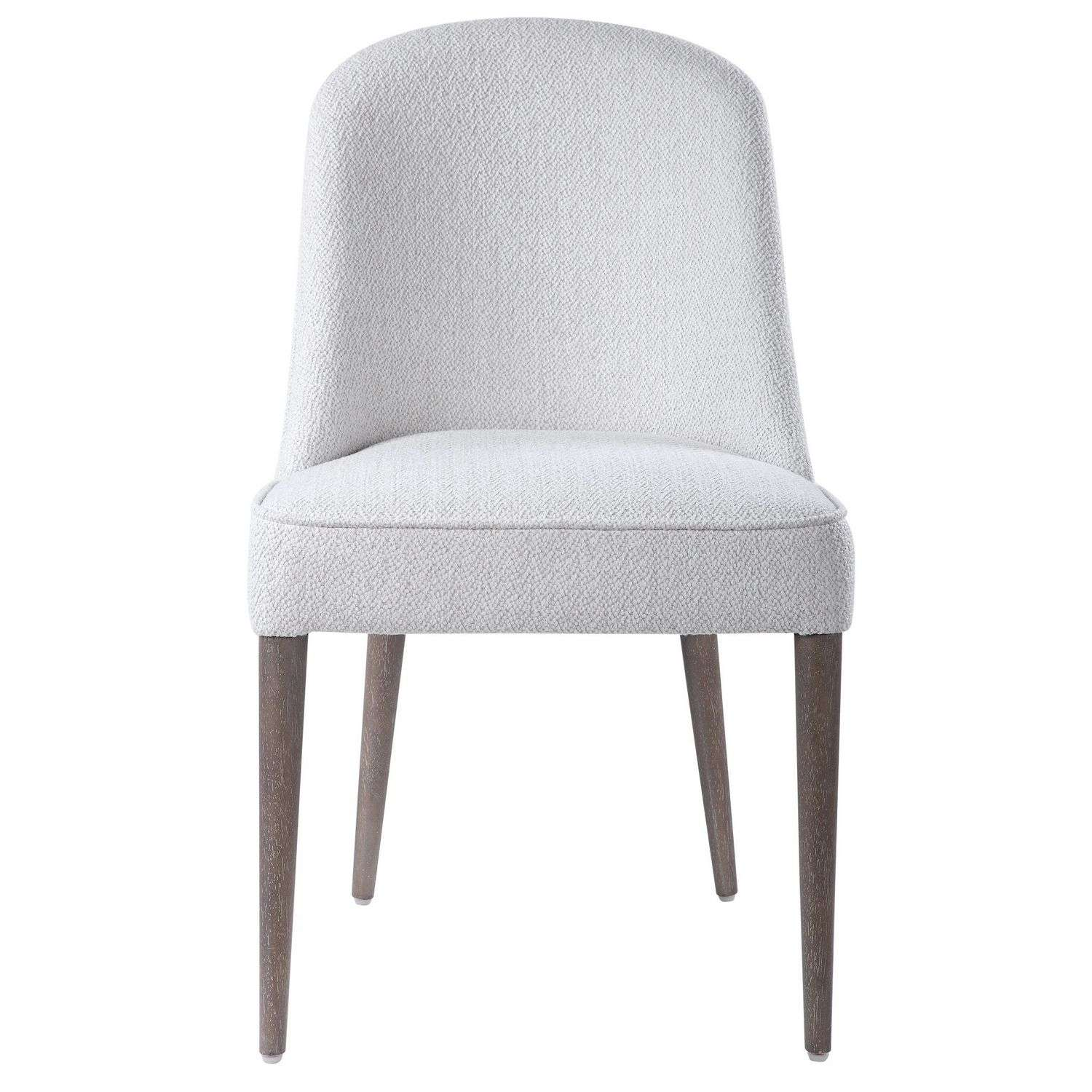 Uttermost Brie Armless Chair - Set of 2 - White