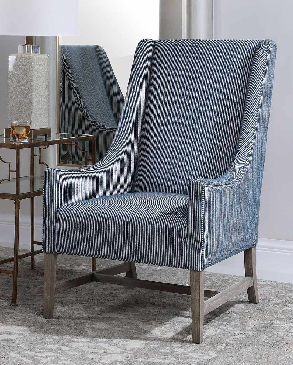 Uttermost Galiot Wingback Accent Chair