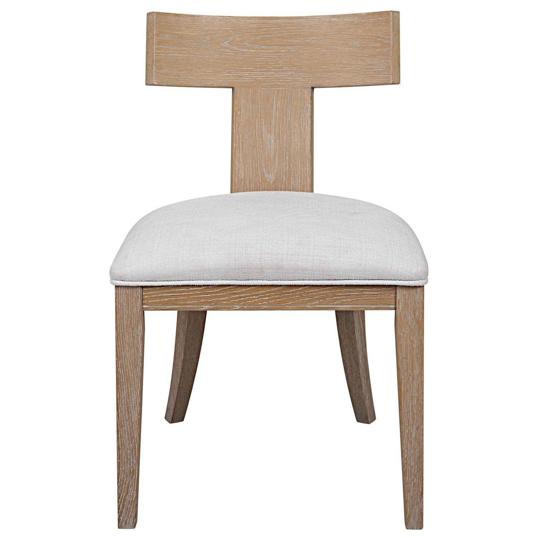 Uttermost Idris Armless Chair - Natural