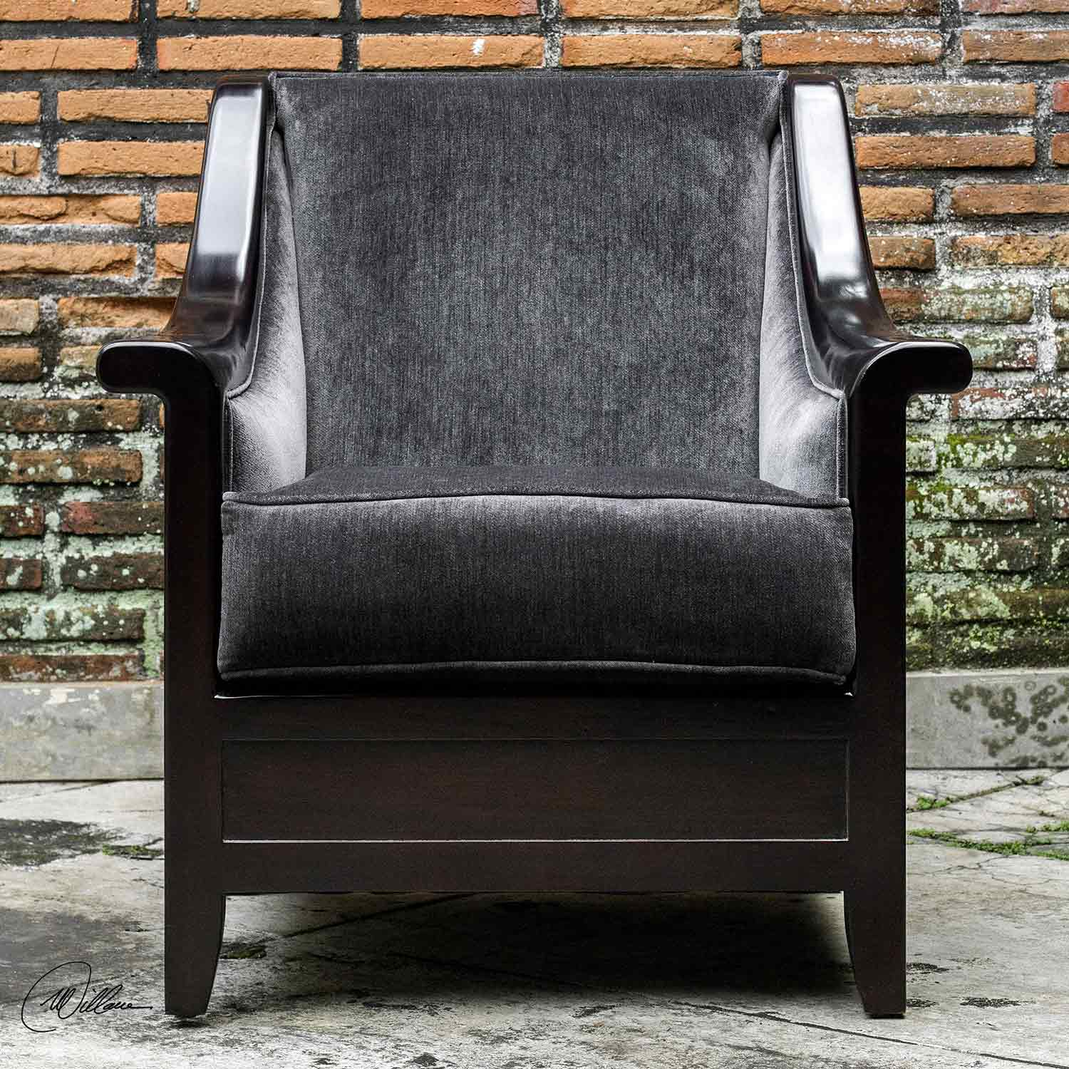 Uttermost Bowie Steel Armchair - Blue