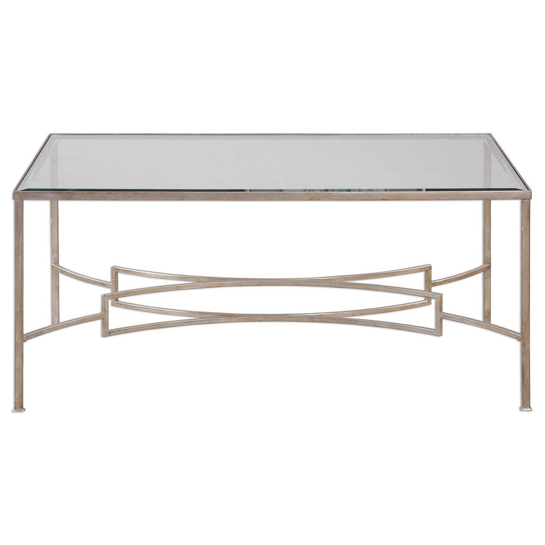Uttermost Eilinora Coffee Table - Silver