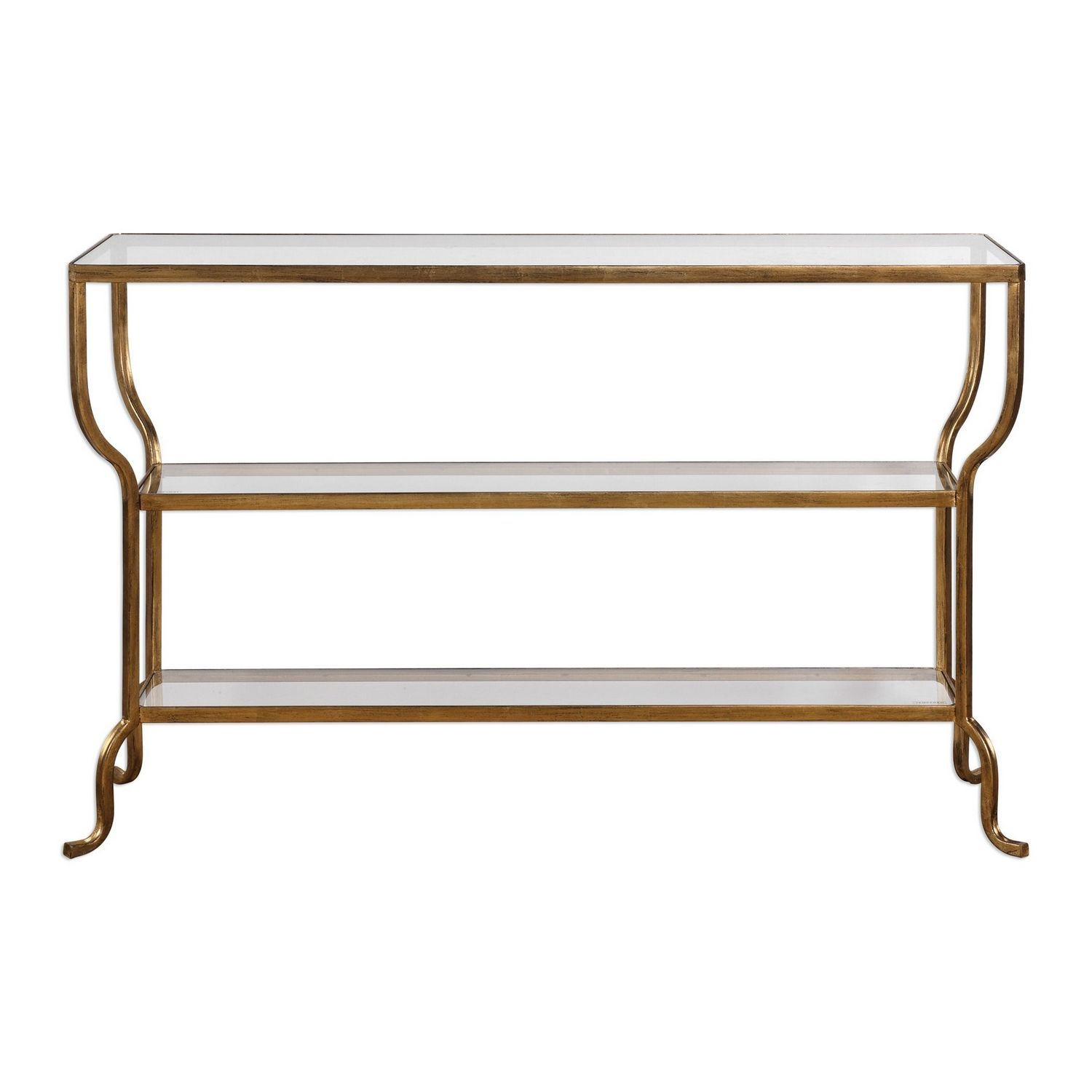 Uttermost Deline Console Table - Gold