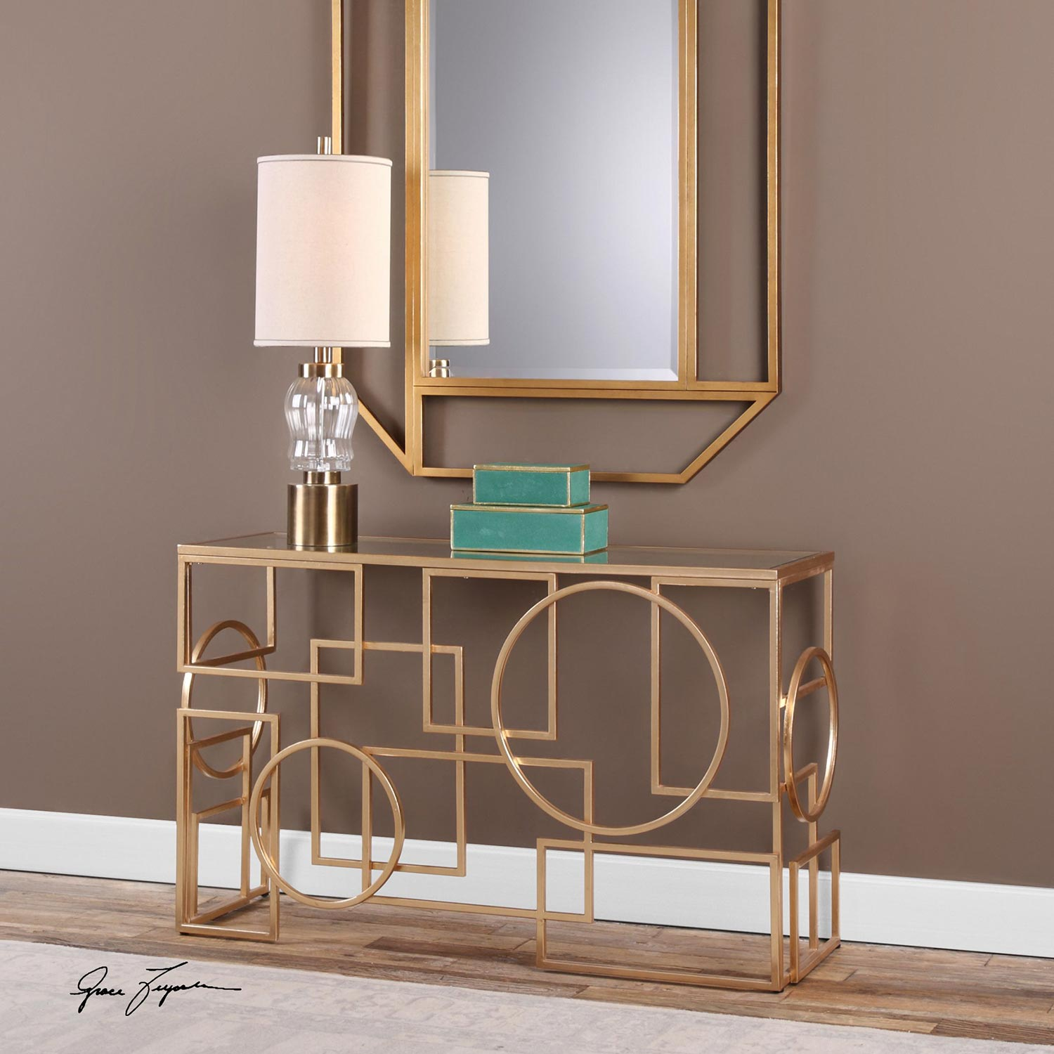 Uttermost Metria Console Table - Gold