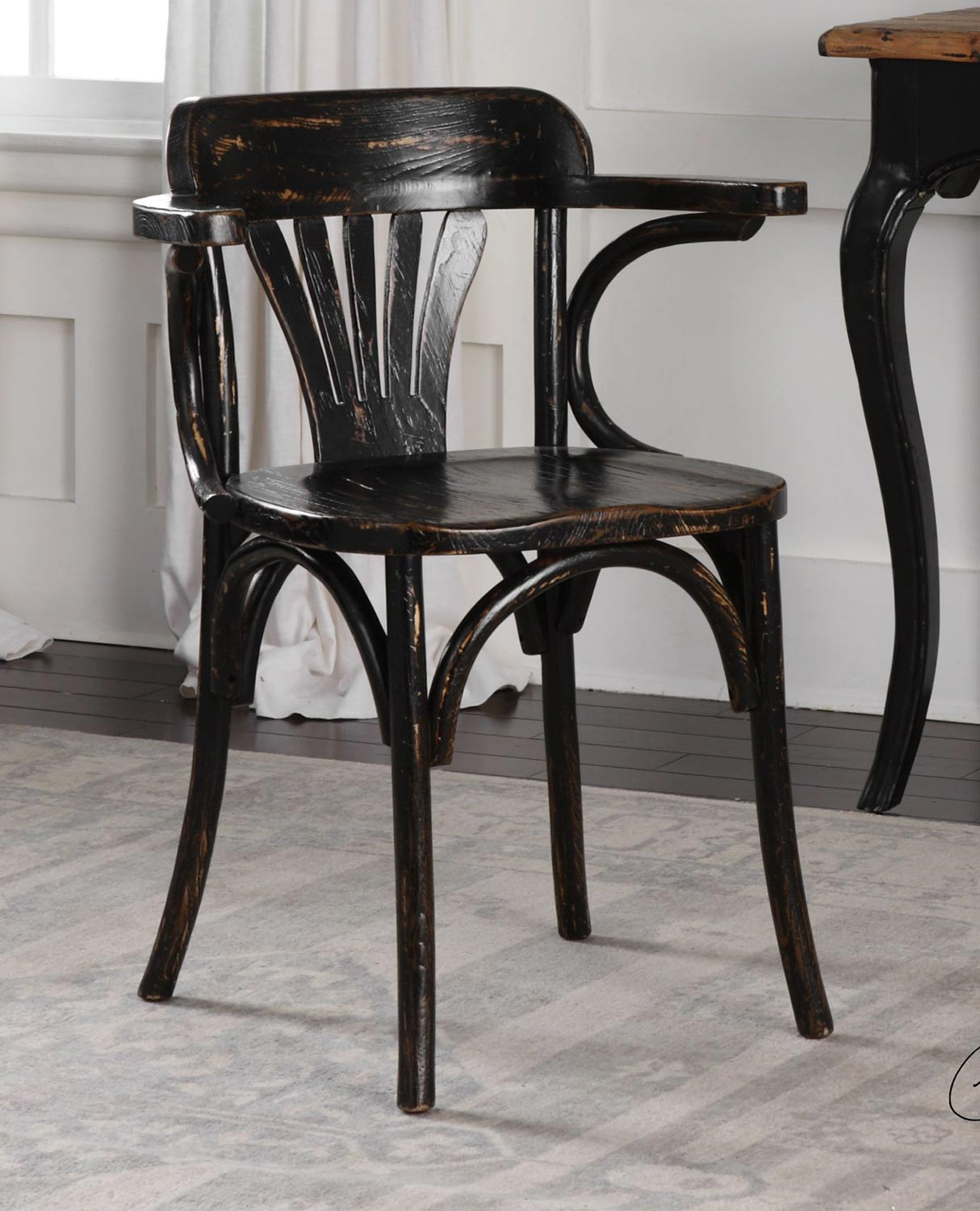 Uttermost Huck Accent Chair - Black