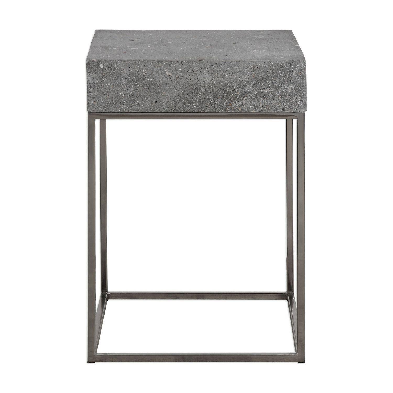 Uttermost Jude Concrete Accent Table