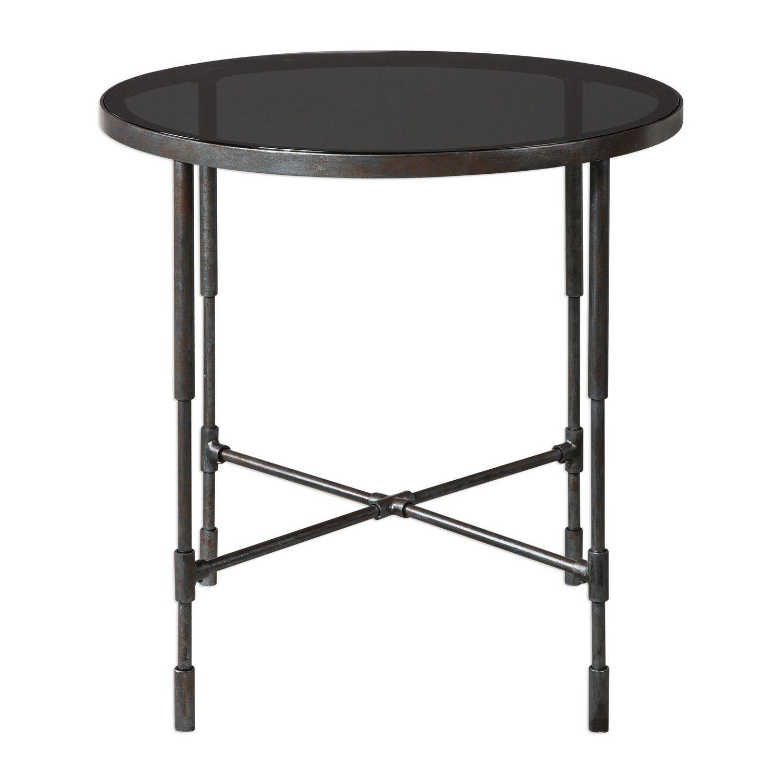 Uttermost Vande Side Table - Aged Steel
