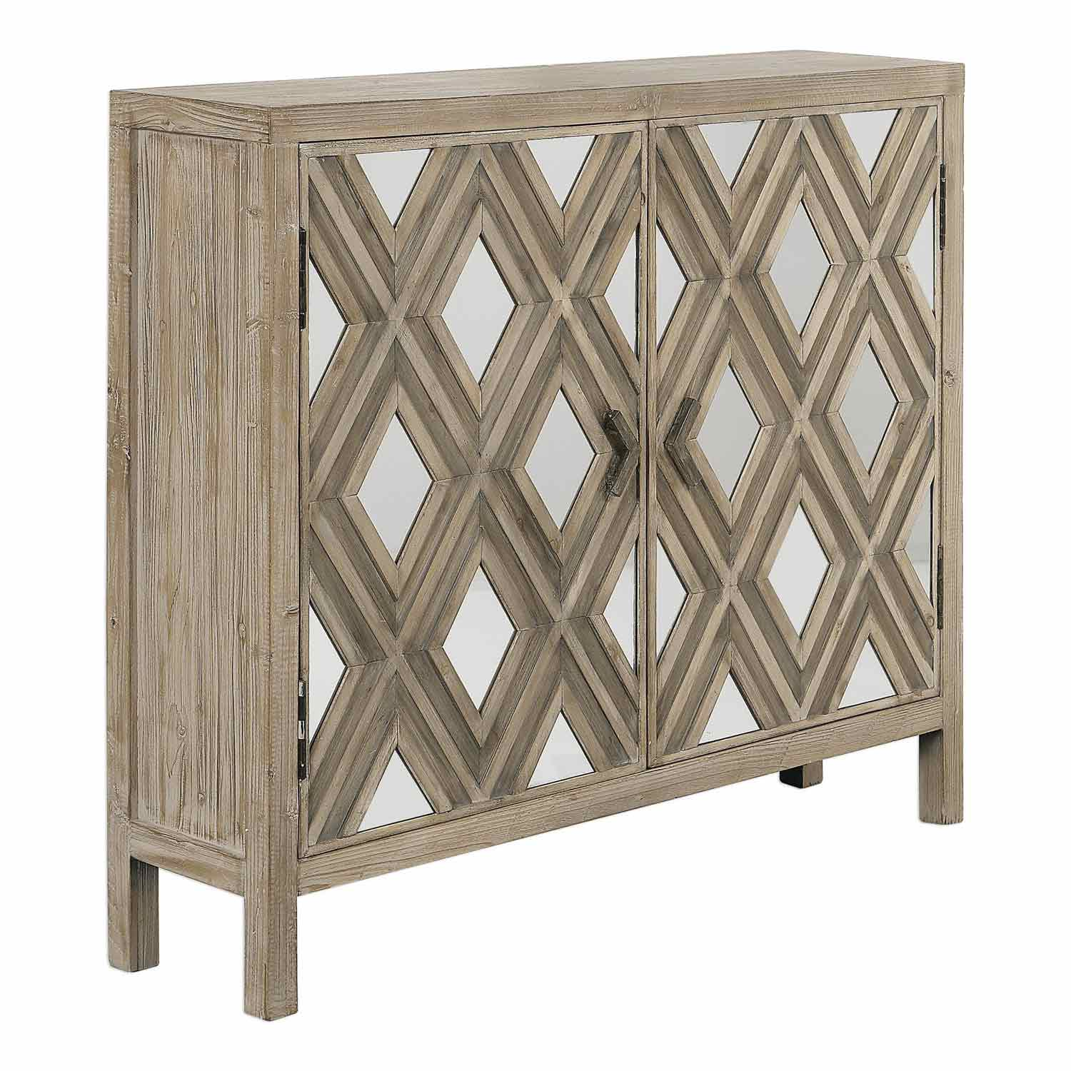Uttermost Tahira Mirrored Accent Cabinet