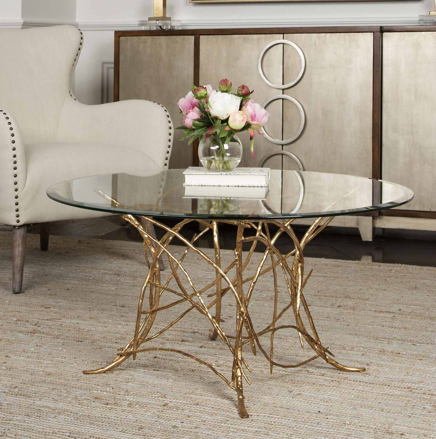 Uttermost Amoret Glass Coffee Table