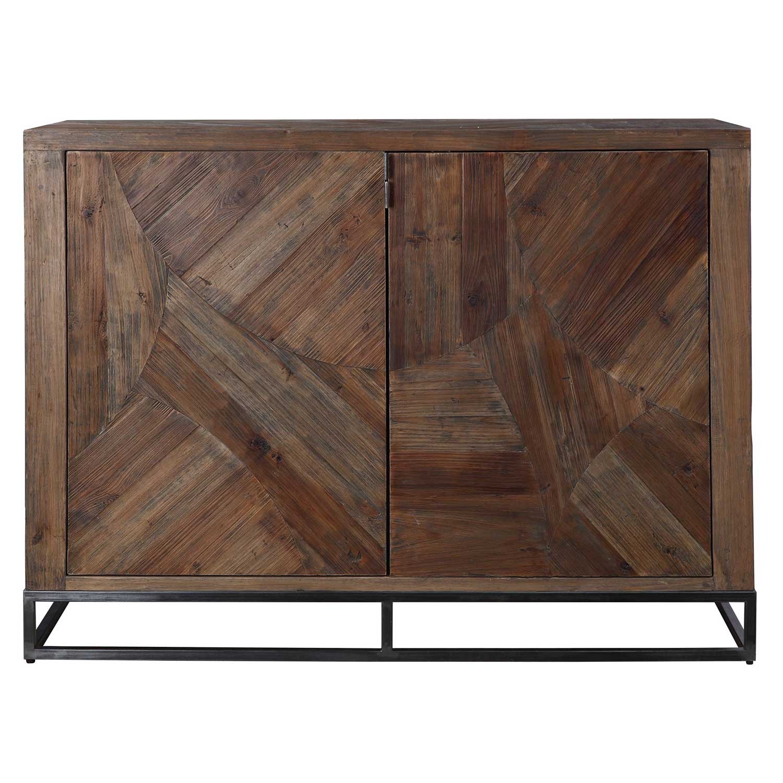 Uttermost Evros Reclaimed Wood 2 Door Cabinet