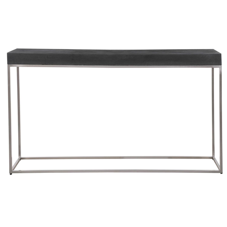 Uttermost Jase Concrete Console Table - Black