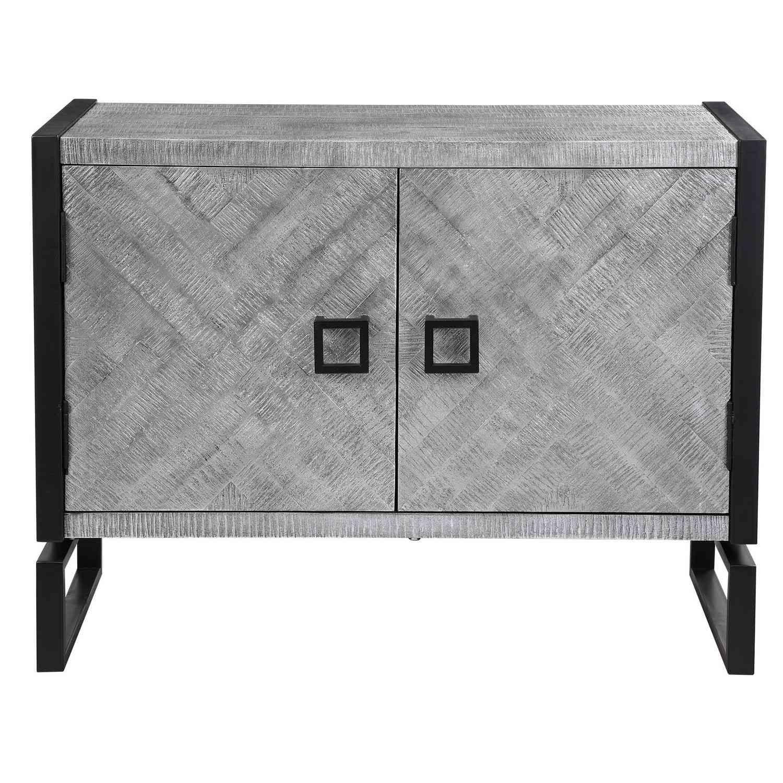 Uttermost Keyes 2 Door Cabinet - Gray