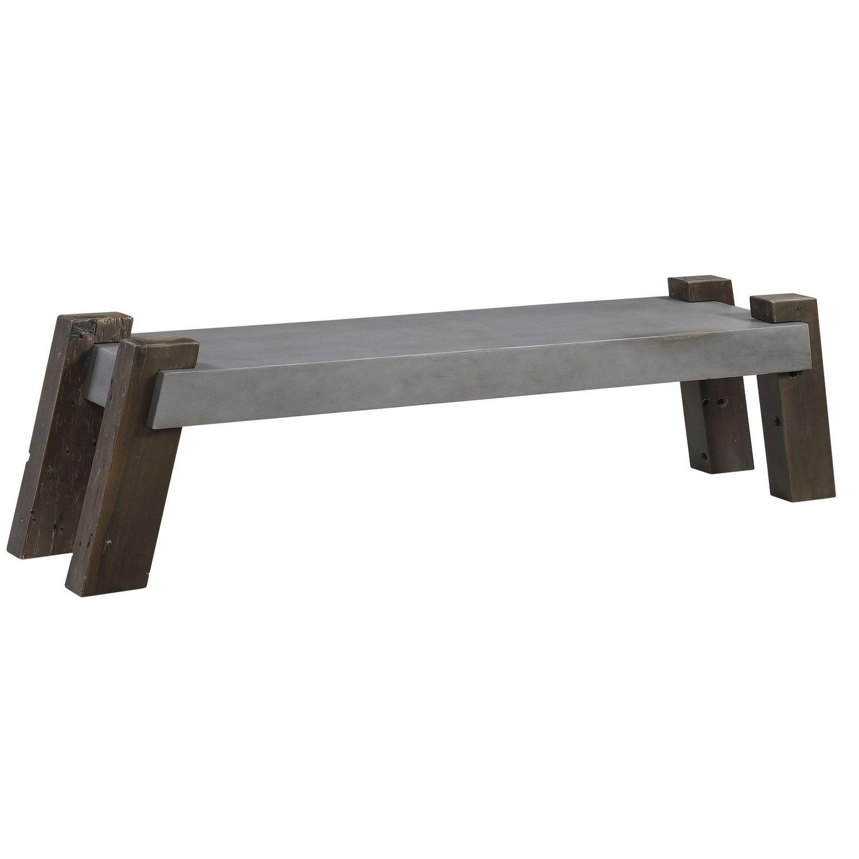 Uttermost Lavin Industrial Concrete Bench