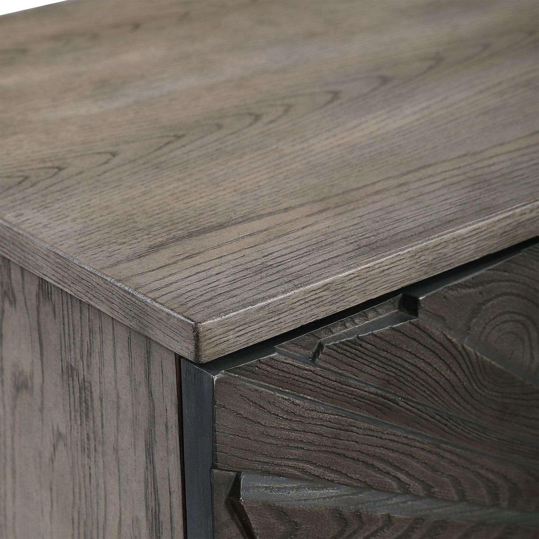 Uttermost Shield 2 Door Cabinet - Gray Oak