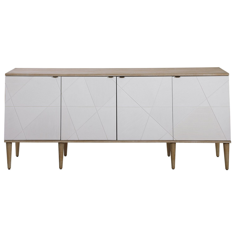 Uttermost Tightrope 4 Door Modern Sideboard Cabinet