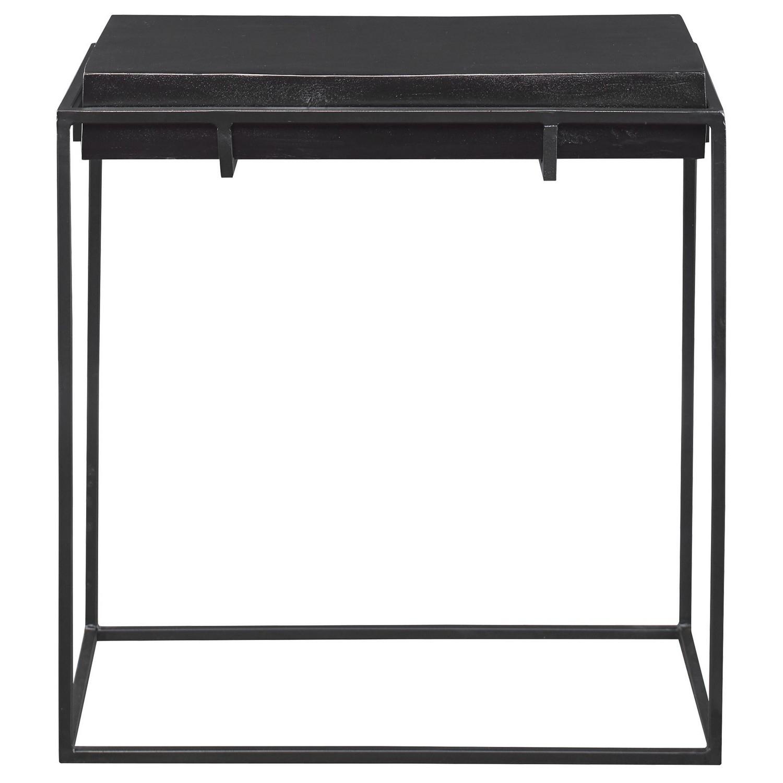 Uttermost Telone Modern Side Table - Black