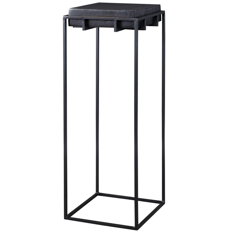 Uttermost Telone Large Pedestal Table - Black