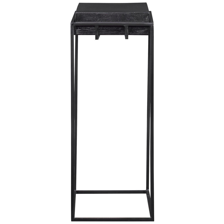 Uttermost Telone Small Pedestal Table - Black