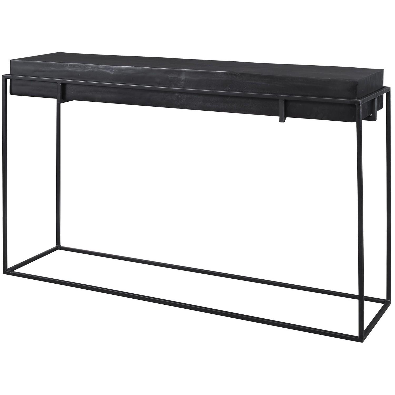 Uttermost Telone Modern Console Table - Black