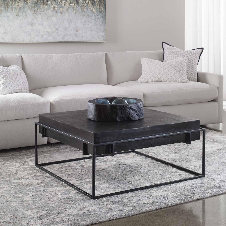 Uttermost Telone Modern Coffee Table - Black