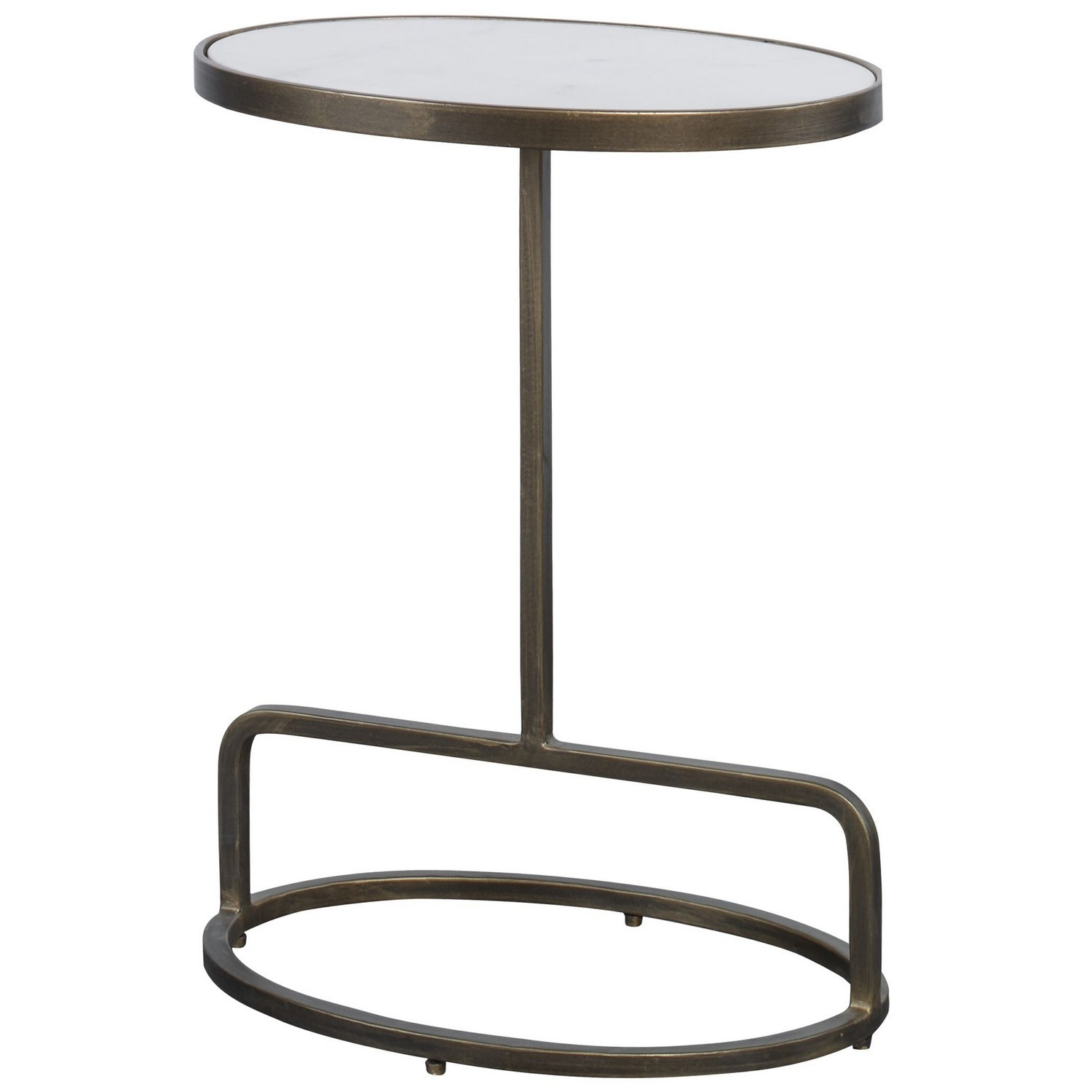 Uttermost Jessenia Marble Accent Table - White