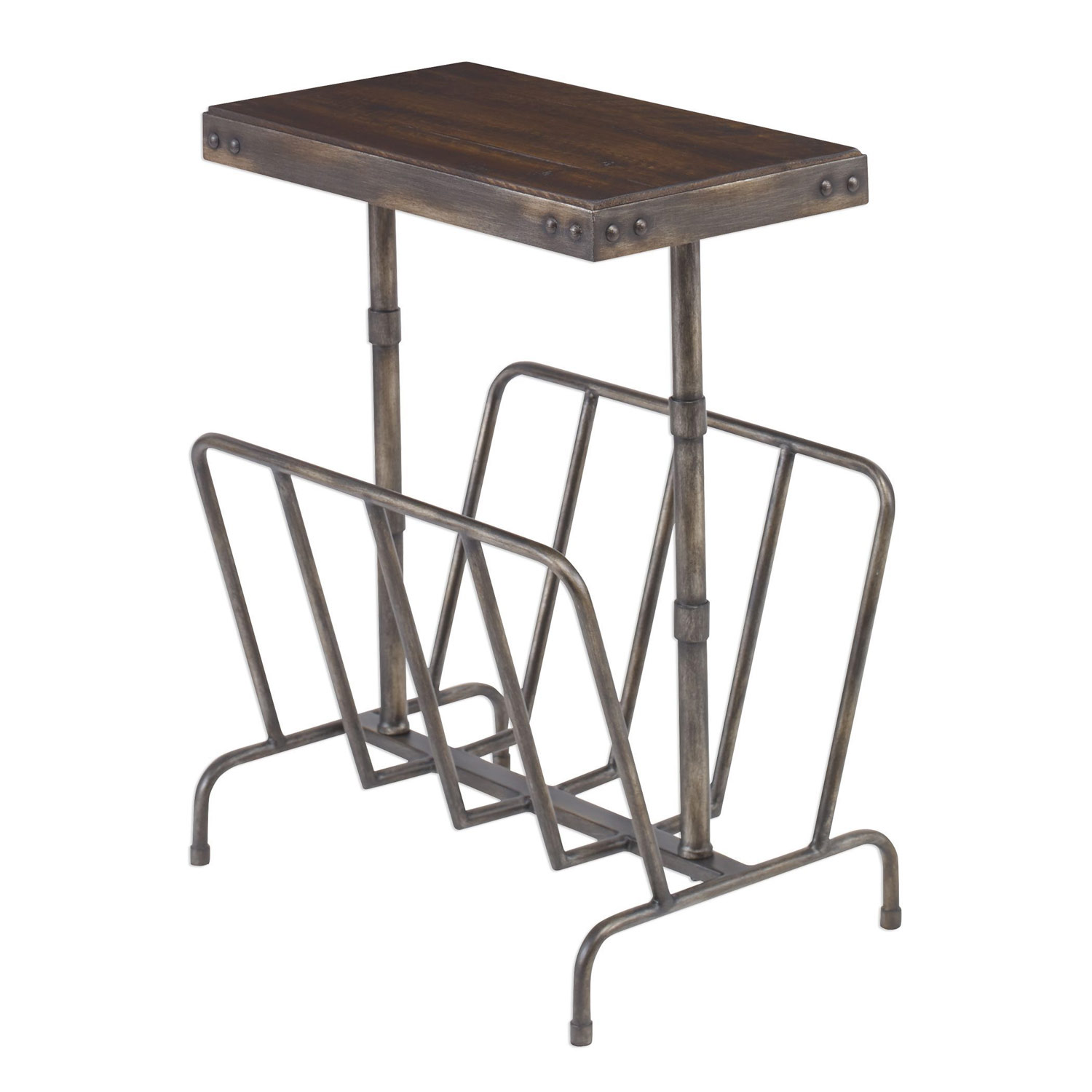 Uttermost Sonora Industrial Magazine Side Table