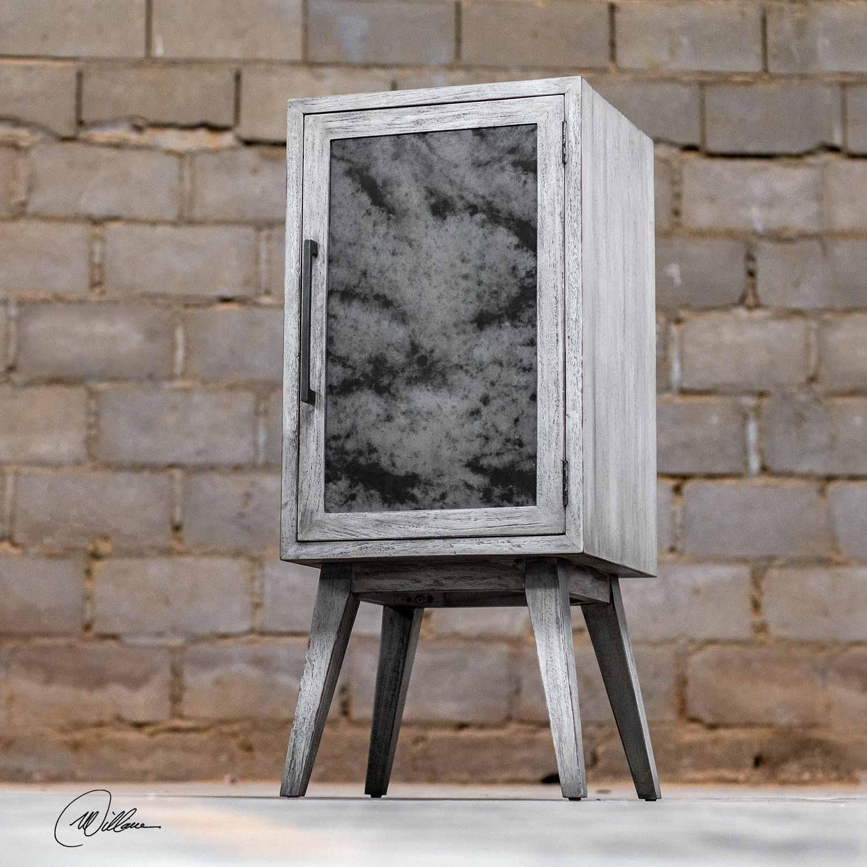 Uttermost Iberia Wine Cabinet - Aged White