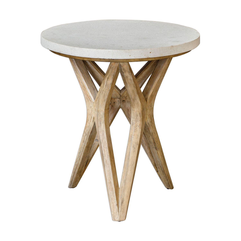 Uttermost Marnie Side Table - Limestone
