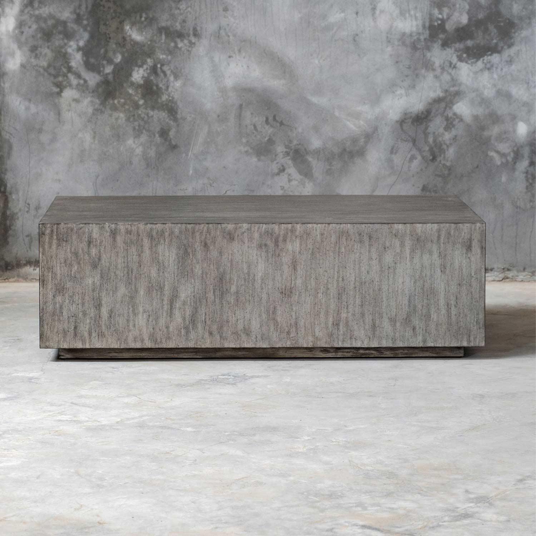 Uttermost Kareem Modern Coffee Table - Gray