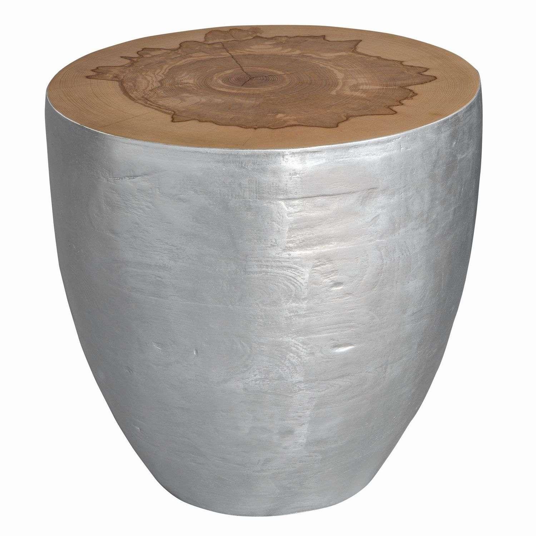 Uttermost Gannett Wood End Table - Silver