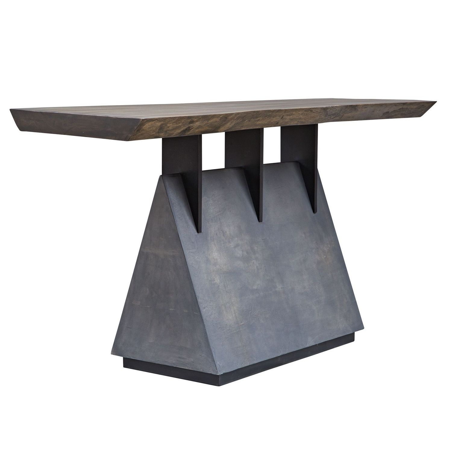 Uttermost Vessel Industrial Console Table