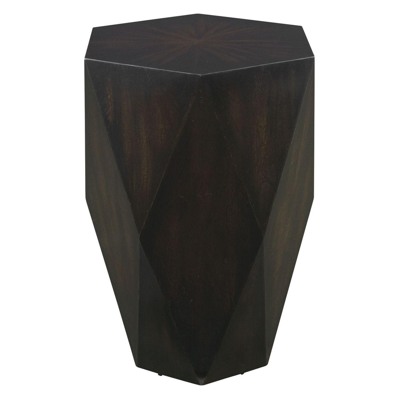 Uttermost Volker Wooden Side Table - Black