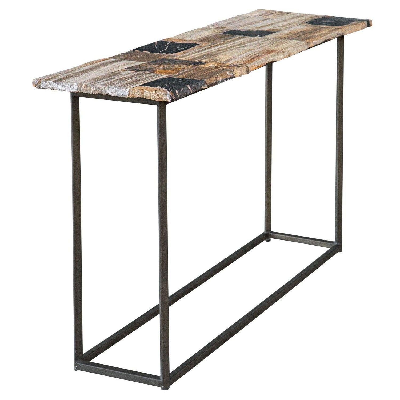 Uttermost Iya Petrified Wood Console Table