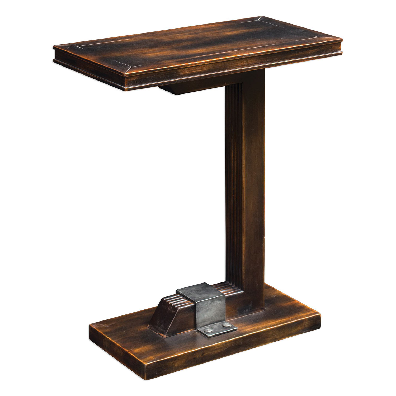 uttermost deacon industrial accent table uttermost deacon industrial accent table uttermost 25805 at      rh   homelement