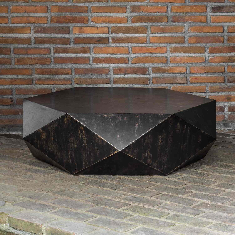 Uttermost Volker Worn Coffee Table - Black