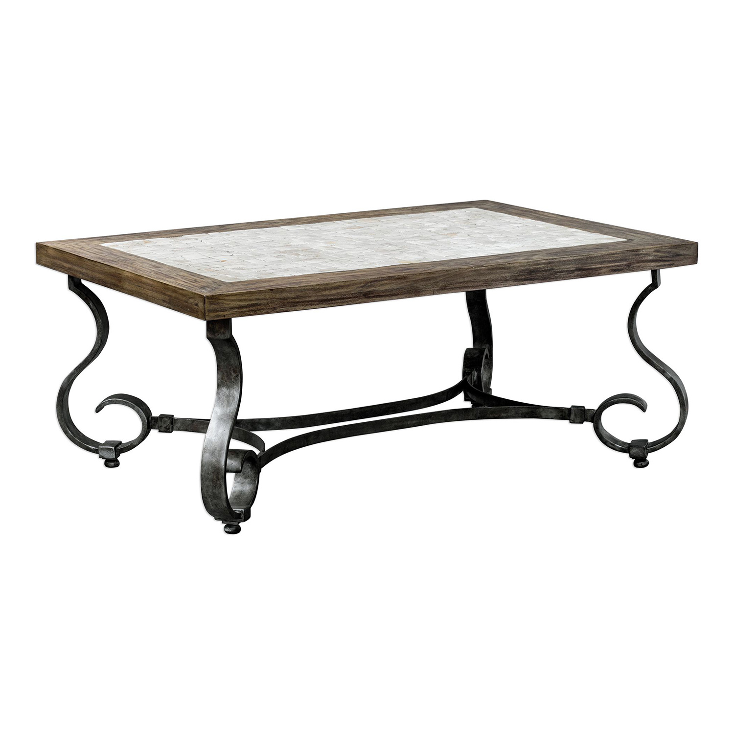 Uttermost Mona Stained Coffee Table - Light Honey