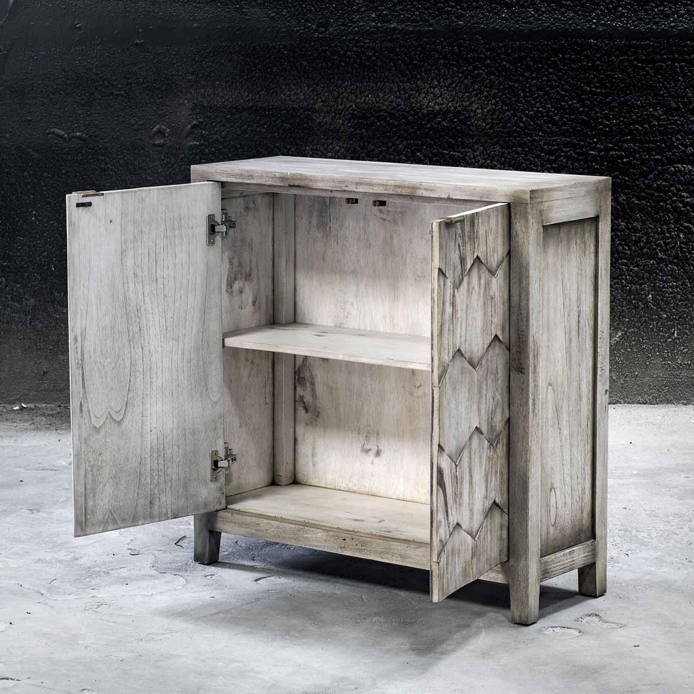 Uttermost Catori Console Cabinet - Smoked Ivory