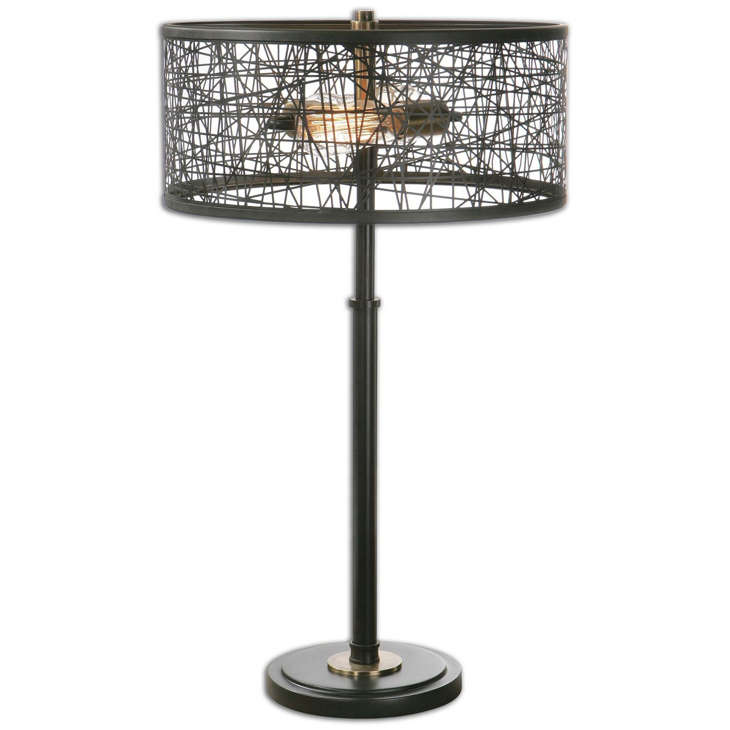 Uttermost Alita Drum Shade Lamp - Black