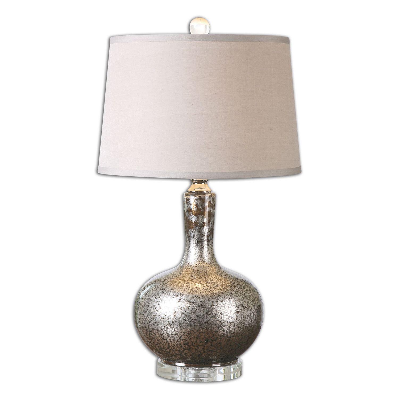 Uttermost Aemilius Glass Table Lamp - Gray