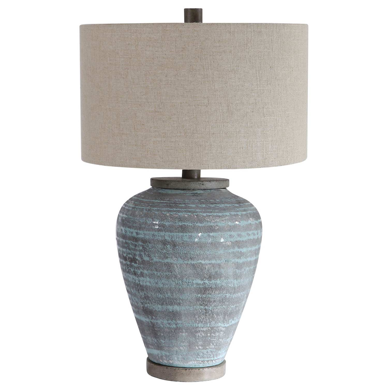 Uttermost Pelia Table Lamp - Light Aqua