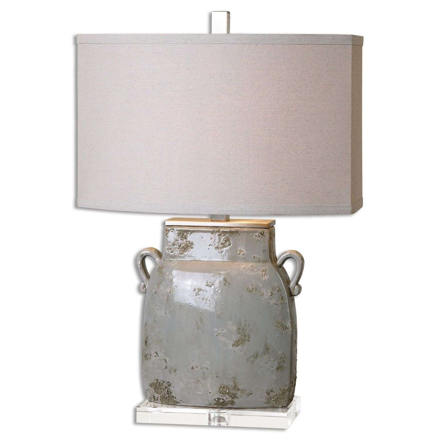 Uttermost Melizzano Table Lamp - Ivory/Gray