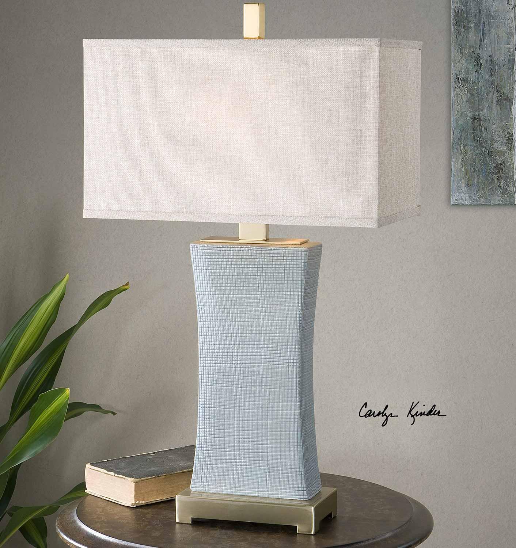 Uttermost Cantarana Blue Gray Table Lamp