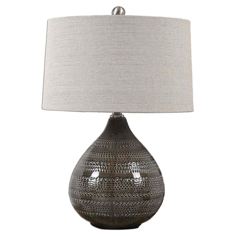 Uttermost Batova Lamp - Smoke Gray