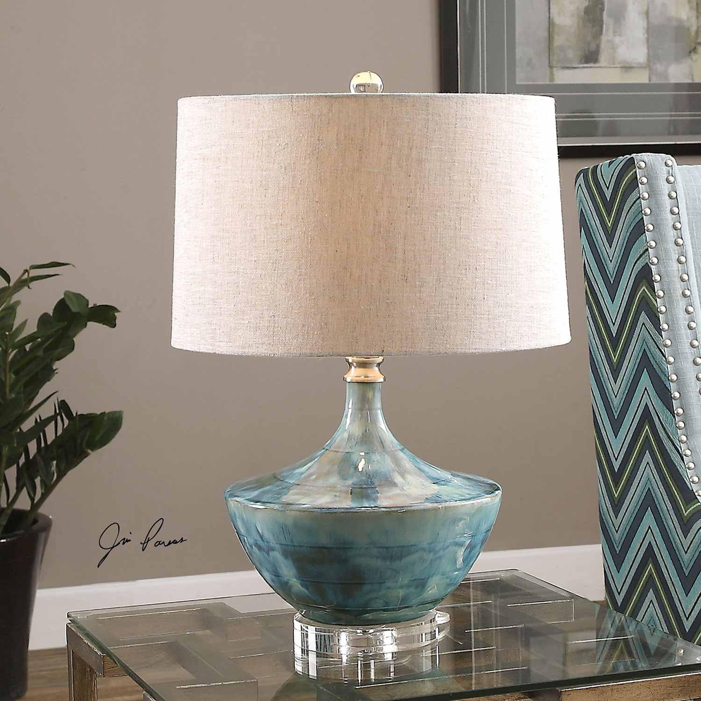 Uttermost Chasida Blue Ceramic Lamp