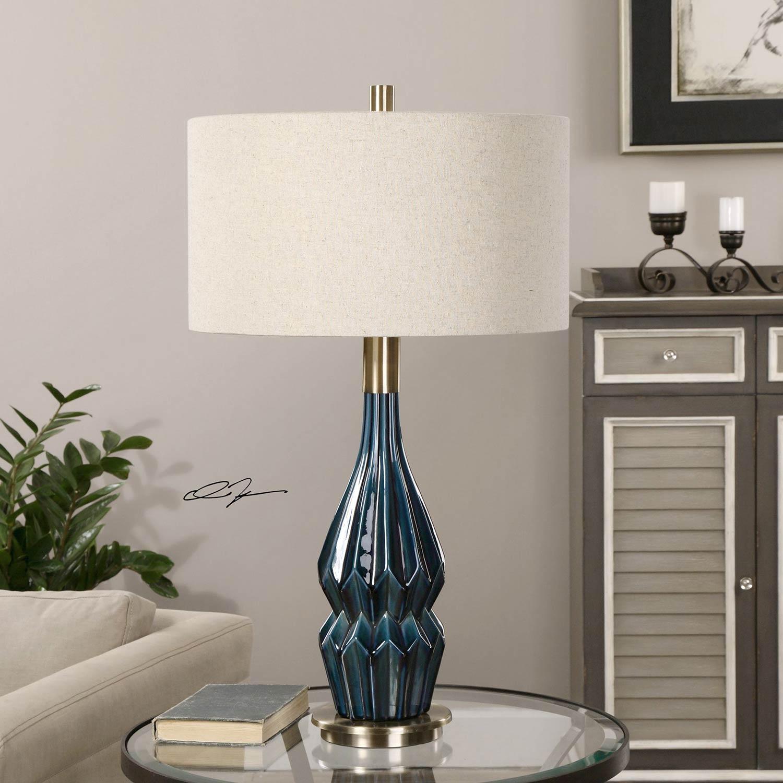 Uttermost Prussian Blue Ceramic Lamp