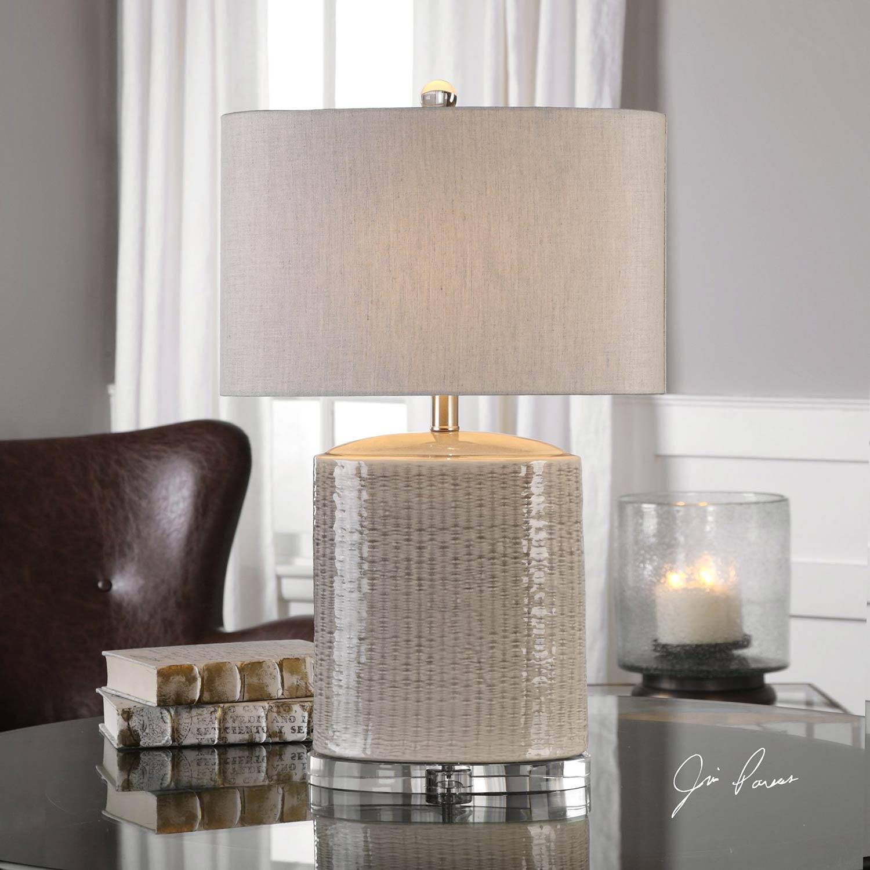 Uttermost Modica Taupe Ceramic Lamp