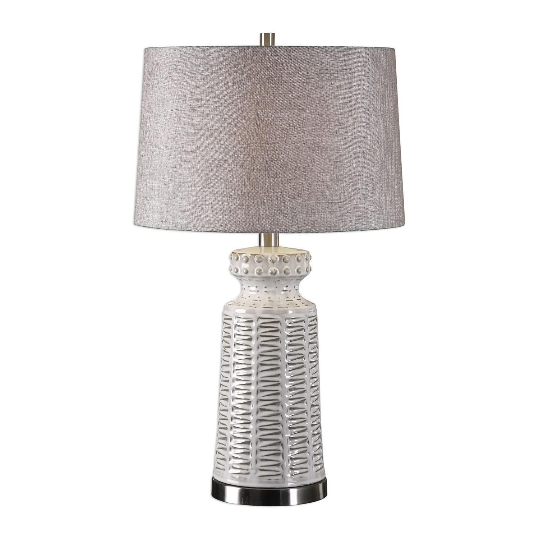 Kansa Table Lamp - Distressed White