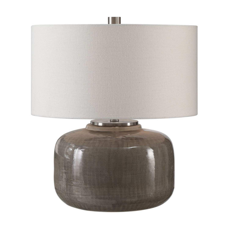 Uttermost Dhara Glaze Lamp - Gray