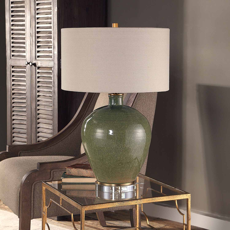 Uttermost Elva Table Lamp - Emerald